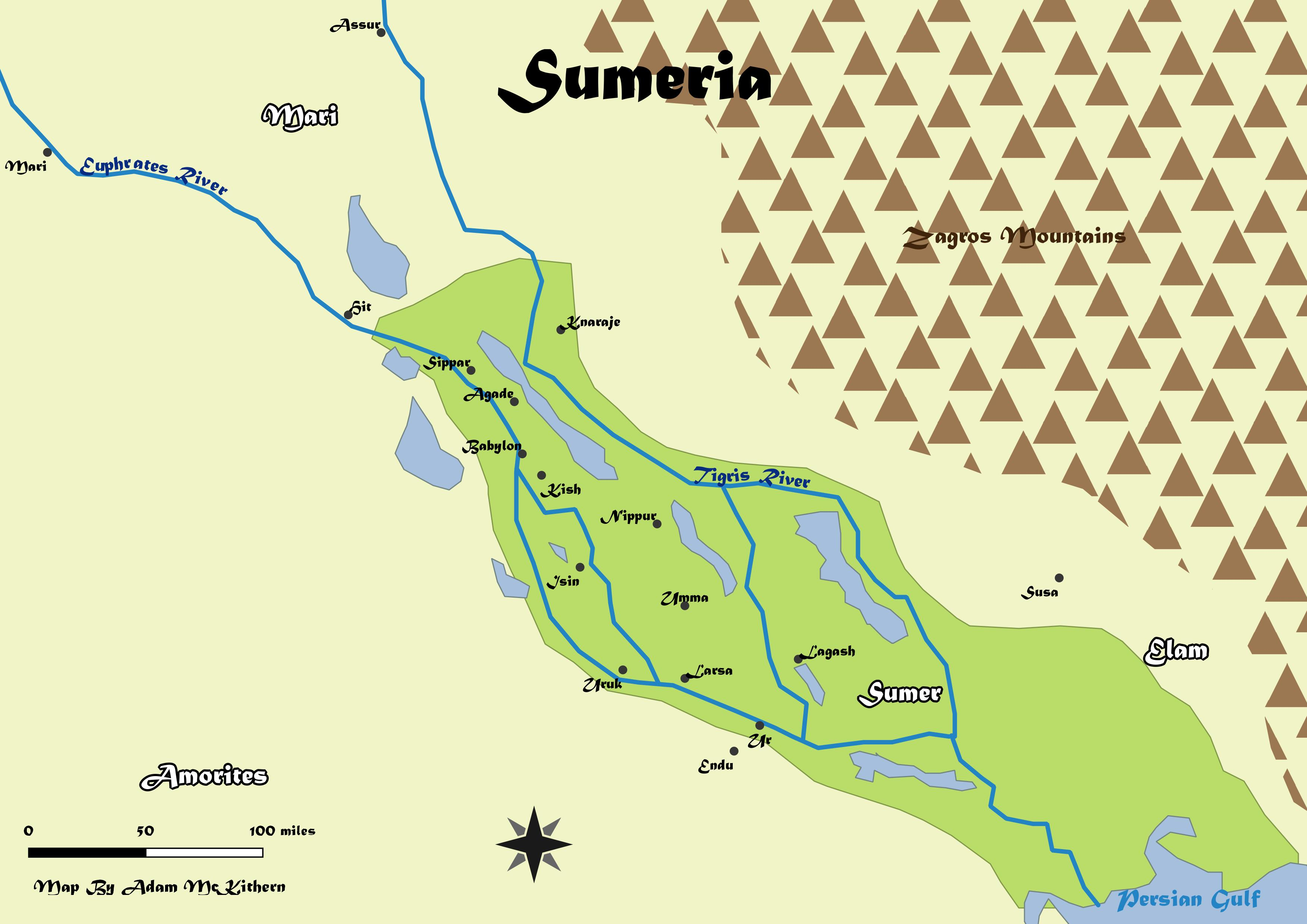 the sumerians Sumer, or the 'land of civilized kings', flourished in mesopotamia, now modern-day iraq, around 4500 bc.
